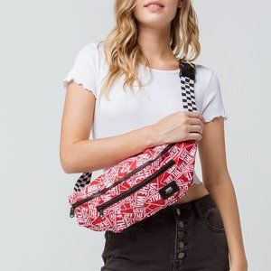 Vans Off The Wall Red White Sling Bag Fanny Pack